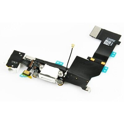 For iPhone 5 Charging Port - Replacement Charger Flex Cable USB Dock Mic - WHITE