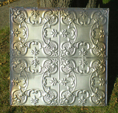"Sale 24"" x 48"" Antique Victorian Nouveau Ceiling Tin Tile Shabby Chic Gold"