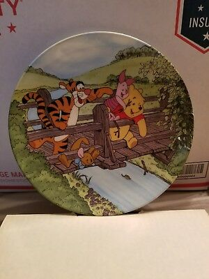 """Bradford Ex. Fun in 100 Acre Woods collection """"Time for a Game of poohsticks"""""""