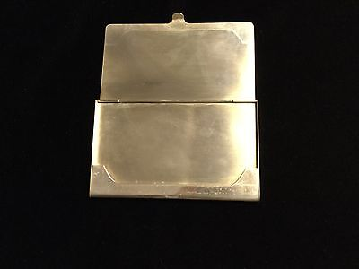 Tiffany Sterling Silver Business Card Case With Tiffany Bag, No Monograms