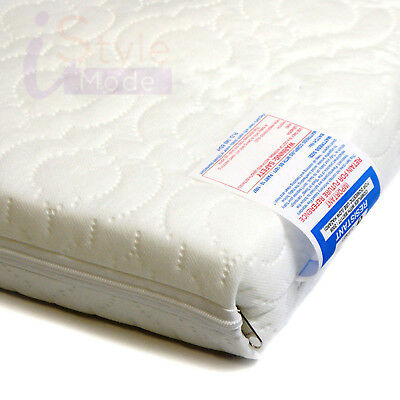 New Quilted & Waterproof Zipped Cotbed Mattress Covers Cot Cotbed Baby Bed