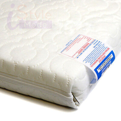 New Quilted Waterproof Zipped Cover For Cot Bed Cot Mattress Travel Cot Crib
