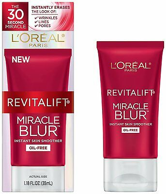 L'Oreal Revitalift Miracle Blur Oil-free Skin Smoother, 1.18 Oz (New-Dmgd Box)