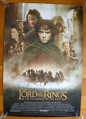 Lord of the Rings Fellowship of the Ring 2001 Movie Poster. New Line