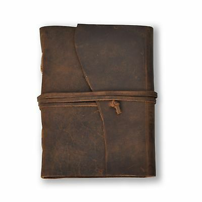 "Handmade Leather Journal – Lined 7"" x 5"" Diary, Travel Notebook With 240 Page..."