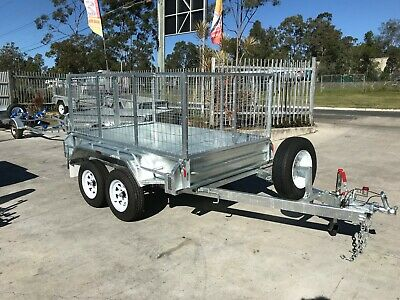 8x5 Tandem Heavy Duty Galvanized Full Welded- 2ft Galvanized Cage - On Special!!
