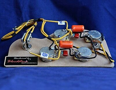 Ready Built Gibson 335 etc 4 Pot Wiring Upgrade Loom Harness -Ideal for Epiphone