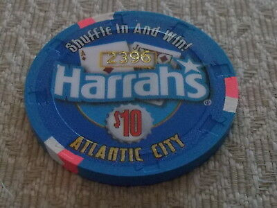 HARRAH'S Hotel Casino $10.00 gaming chip - Atlantic City, NJ