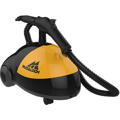 McCulloch 1500W Heavy-Duty Canister Steam Cleaner with 48 oz Water Reservoir