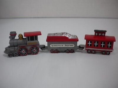 LIONELVILLE EXPRESS 3-Car Train For Village/Town Hall Clock - Magnetized -