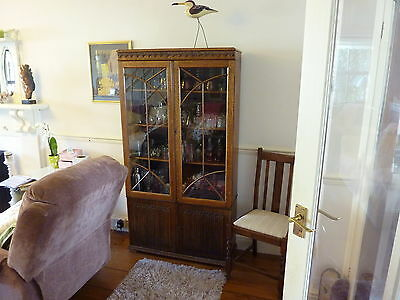 a vintage glass cabinet edwarian