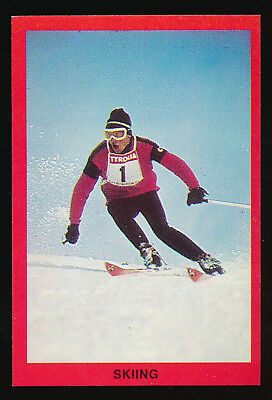 1973 Sunblest Sports Action Tip Top Bread Skiing card r