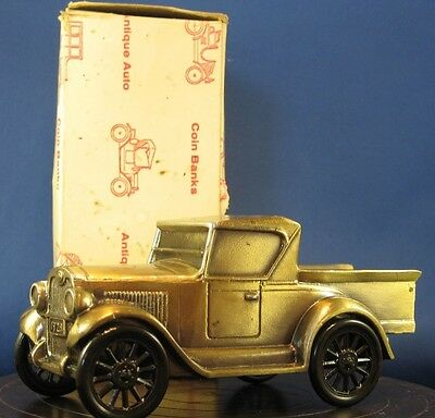 * 1928 Chevy pickup truck cast metal bank by Banthrico - Chippewa Trust Co. MO