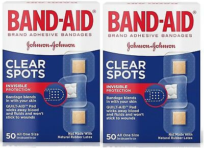 2 PACK - Band-Aid Clear Spots All One Size - 50 count each box