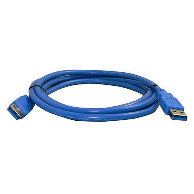 Superspeed USB 3.0 Type A Male to Type A Male Cable 24 inch (60 cm), Blue