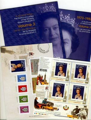 LQ. ca. KEEPSAKE folder Volume #3 QUEEN Elizabeth ll Diamond Jubilee Canada 2012