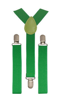 Toddler Baby Boys Child Suspender Green Y Clips St Patrick's Day Accessories
