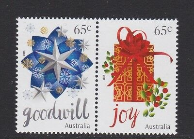 Australia 2016 : Christmas - 65c Joined pair MNH