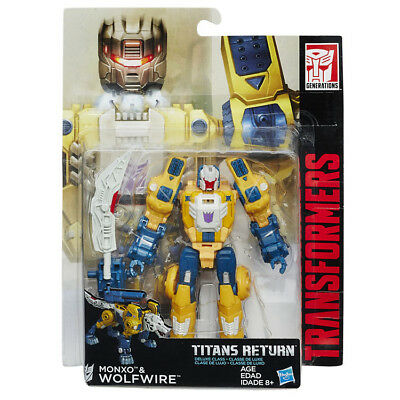 Transformers Titans Return Deluxe Wolfwire and Monxo NEW