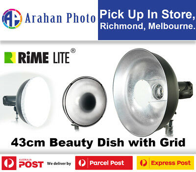 RimeLite 43cm Beauty Dish with Grid and Diffuser