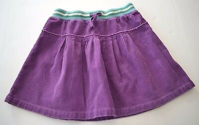 Girls MINI BODEN Sz 9 10y Purple Corduroy Pleated Skirt Stripe Waistband