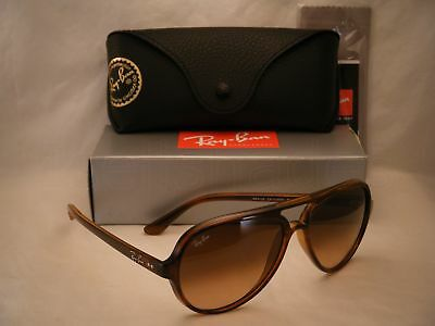 9ce12f2304 Ray Ban 4125 CATS 5000 Striped Havana w Pink Brown Gradient Lens (RB4125  710