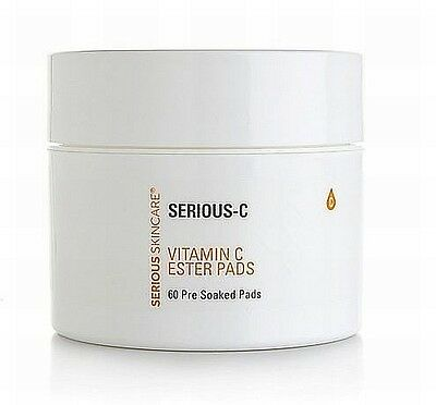 Serious Skincare Vitamin C Ester Pre-Soaked PADS 60 Count - NEW & Sealed