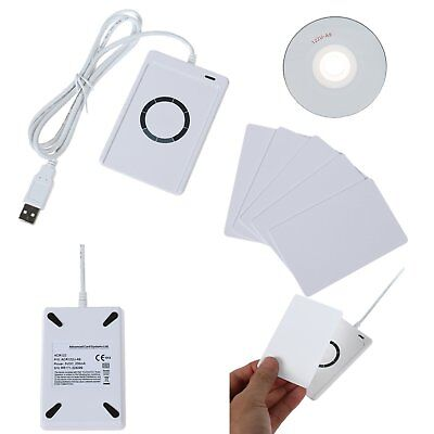 NFC ACR122U USB Smart Reader Writer RFID Contactless 5 IC Card for Mifare FeliCa