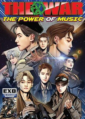EXO [THE WAR:THE POWER OF MUSIC] 4th Repackage Album CD+POSTER+etc+GIFT SEALED