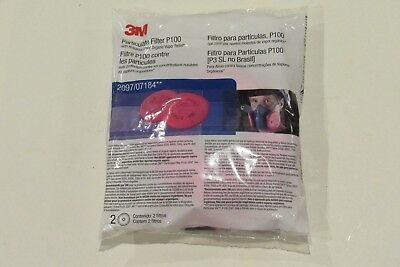NEW 3M P100 2097/07184 Particulate Filter (2 pack) Free Shipping!