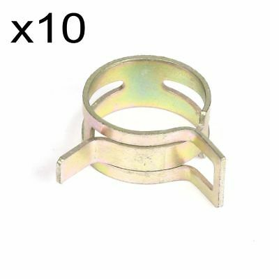 "10X 11mm 0.43"" Inch ID Spring Clip Fuel Oil Line Silicone Vacuum Hose Clamp"