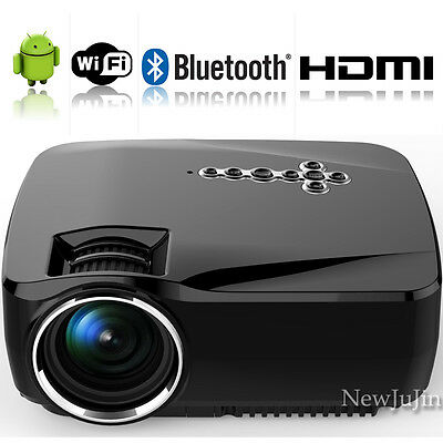 Smart Android WIFI 1080P HDMI LED LCD  Home Theater Projector USB Quad-core CPU