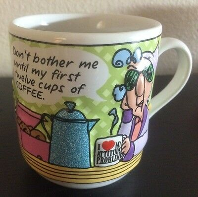 Hallmark Maxine mug Dont bother me until my first twelve cups of Coffee 3D