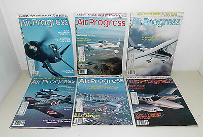 Lot of 6 Air Progress Magazines 1981 Back Issues March-August