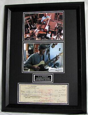 Clarence Leo Fender signed matted cheque Fender Guitar authentic guaranteed COA