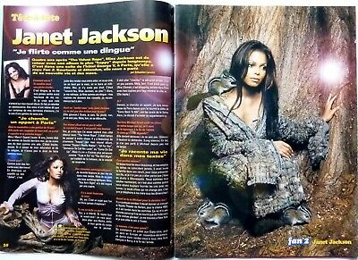 *JANET JACKSON => 2 pages 2001 FRENCH CLIPPING