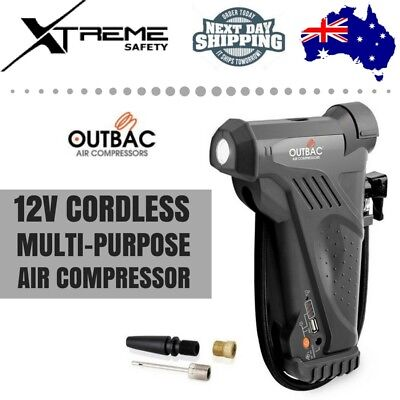 Outbac Hawk Cordless Car Bike Rechargeable Air Portable Electric Compressor 12V