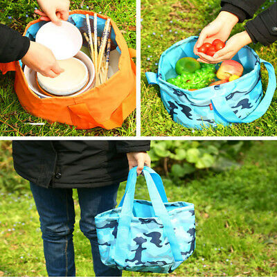 15L Portable Folding Water Bucket Bag Storage Sink Camping Travel Hiking Outdoor