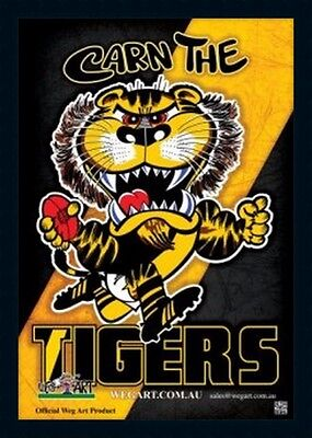 2017 Richmond Tigers Official WEG ART Satin Coated Collectable Poster Framed.