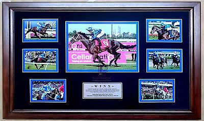 Winx 'australian Horse Of The Year 2015/16' Horse Racing 7 Photo Collage Framed