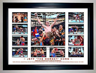 Jeff Horn 2017 Welterweight Boxing Champion Photo Collage Signed Print Or Framed