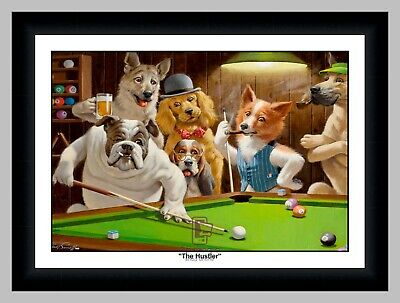 Arthur Sarnoff Dogs 9 Titles Playing Pool Poker Cards Slots Print Only or Framed