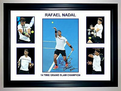 Rafael Nadal 14 Time Grand Slam Champion 5 Photo Collage Signed Print Or Framed