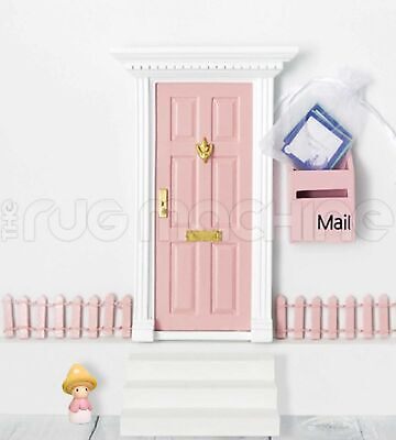 MAGICAL FAIRY DOOR SET - PALE PINK Wooden Mini Doll Size|Aussie Company **NEW**