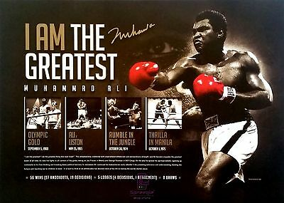 Muhammad Ali 'I am The Greatest' Boxing Signed L/E Print Only or Framed