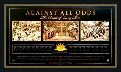 'Against All Odds' Battle of Long Tan Anzac Military L/E Print Only or Framed
