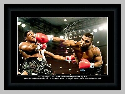 Iron Mike Tyson Boxing A3 Signed Action Photo Framed Selection
