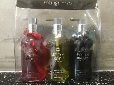 Molton Brown Festive Hand Wash Trio Set & Gift Bag (3 x 300ml) – NEW