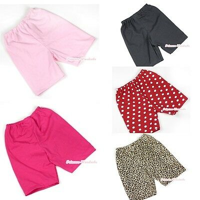 Casual Cotton Pants Shorts Solid Color Animal Print For Kid Children Unisex 1-8Y