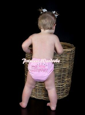 """Pink Pantie Bloomer Brief with """"Princess"""" Logo Print For Newborn Baby Girl 6m-3Y"""